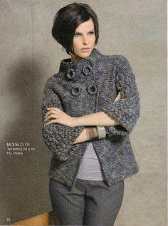 Valéria  Fashion: Casaco em tricô