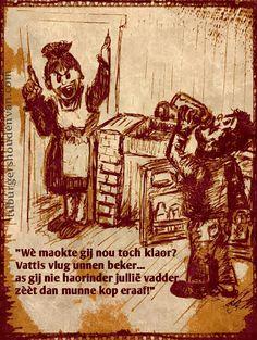 #Haorinder #tilburgershoudenvan  #tilburgs #dialect #cartoon  #prent #kleijberg #gezegde