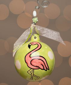 Another great find on #zulily! Pink Flamingo Ball Ornament by  #zulilyfinds