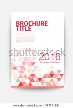 Brochure Template Cover Design Annual Report Magazine And Flyer