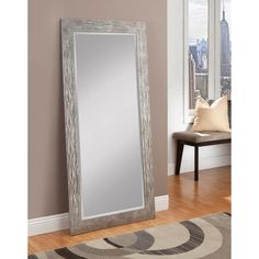 Coaster Accent Mirrors Contemporary Floor Mirror with Mirrored Frame ...