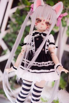 Kawaii Doll, Kawaii Anime, Pretty Dolls, Beautiful Dolls, Ooak Dolls, Blythe Dolls, Anime Figurines, Dream Doll, Doll Painting