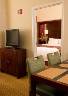 Residence Inn Ft. Myers Sanibel Hotel-Bedroom Suite Living Area with TV http://www.marriott.com/hotels/event-planning/travel/rswrs-residence-inn-fort-myers-sanibel/