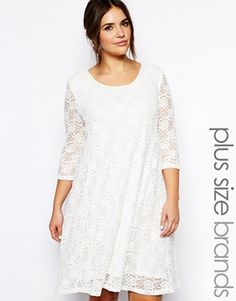 Truly You Lace Skater Dress