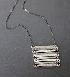 High Rise Sterling Silver Bar Necklace | Jewelry Necklaces | the Quiet Woods | Scoutmob Shoppe | Product Detail