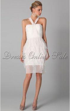 Superior Sheath Knee-length Spaghetti Straps White Chiffon Dress