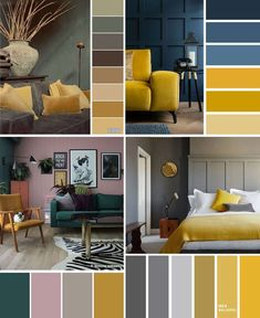 House Color Schemes Interior, Living Room Color Schemes, Living Room Colors, Bedroom Colors, Home Living Room, Living Room Designs, Living Room Decor, Bedroom Decor, Interior Design