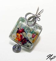 Wire Wrap Glass Tile Pendant 2 by ~Create-A-Pendant on deviantART