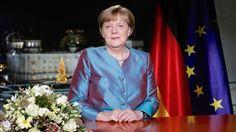 """Angela Merkel : """"Der Gegenentwurf zur hasserfüllten Welt des Terrorismus"""" In ihrer Neujahrsansprache zeigt sich die Bundeskanzlerin zuversichtlich, warnt aber vor Zerrbildern. Islamistischer Terror ist Merkel zufolge die schwerste Prüfung."""