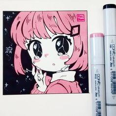 """28.4k Likes, 87 Comments - Ibu (@ibu_chuan) on Instagram: """"""""Namida"""" Tenía muchas ganas de hacer un dibujo de estilo simple con bicolores planos ^^)9 Ya…"""""""
