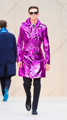 I need this metallic trenchcoat from Burberry. Can someone with a spare £2,000 get it for me, please? Fluro Pink to be more precise?