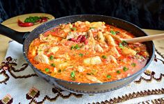 Cooking Recipes, Healthy Recipes, Healthy Food, Romanian Food, Paella, Thai Red Curry, Food And Drink, Tasty, Favorite Recipes