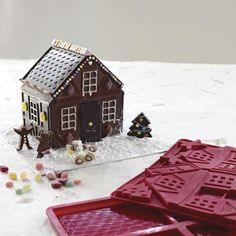 Large Silicone Chocolate House Gingerbread Mould Christmas Cottage Halloween in All Things Christmas, Christmas Holidays, Merry Christmas, Xmas, Chocolate House, Chocolate Molds, Christmas Fashion, No Bake Cake, Summer Time