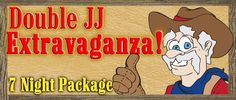 Are you someone who wants to squeeze ever last drop of fun out of your vacations? Book the Double JJ Extravaganza package, & enjoy 7 days of unlimited Horseback Riding, Gold Rush Waterpark, & golf at the Thoroughbred Golf Club, along with Saturday Night Rodeo passes! Get all the details here: http://www.doublejj.com/specials/seasonal-packages-specials.html