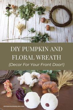 In this blog post, I'm sharing a how to make a fall wreath diy tutorial! These are the perfect fall decor for your front door! #fall #decor