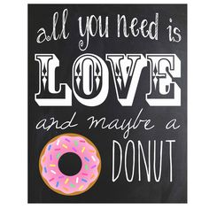 Donut Chalkboard Sign Instant Download by amira143 on Etsy