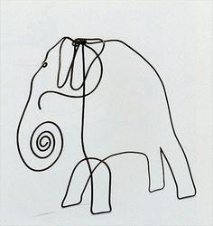 """Wire elephant"", 1928  Alexander Calder"