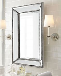 Visual Comfort Bryant Sconce with Polished-Nickel Finish Zen Bathroom, Bathroom Wall Sconces, Modern Wall Sconces, Bathroom Light Fixtures, Modern Bathroom, Master Bathroom, Bathroom Ideas, Bathroom Lighting, Wall Mirror