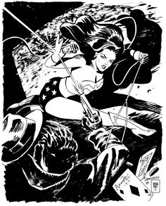 Wonder Woman by Aaron McConnell, (Inspired by Jordi Bernet) Comic Books Art, Comic Art, Jordi Bernet, Dc Comics Women, Batman, Erotica, Pop Art, Wonder Woman, Superhero