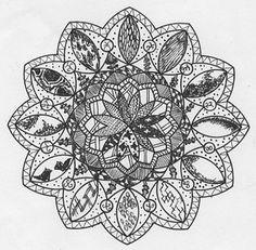 zentangle mandala by FillyFolly