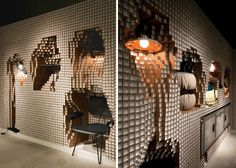 Digit Diesel Home Installation Features 10000 Paper Pipes @Zoe Hughes