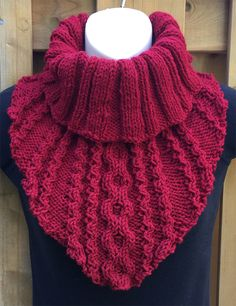 Free until September 30 2018 Knitting Pattern for Flower & Stripes Shawl Cabled cowl with easy to memorize stitch pattern and ribbed neck. Designed by The Knitting Artist.Lanyard Model Knitting Models, # Collar Models - Diy And CraftHere is an easy p Crochet Poncho Patterns, Knitted Shawls, Knitting Patterns Free, Crochet Scarves, Cowl Patterns, Cardigan Pattern, Loom Knitting, Knitting Stitches, Hand Knitting