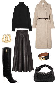 Fall Fashion Skirts, Fashion Outfits, Fashion Tips, Fashion Design, Fall Lookbook, Outfit Combinations, Office Fashion, Aesthetic Clothes, Capsule Wardrobe