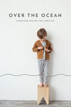 a postcard from Over The Ocean Photography by modern kids  Design by amanda Jane Jones