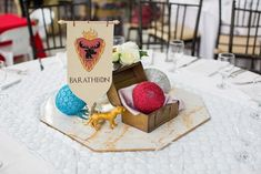 Victoria Daenerys' Game of Thrones Themed Party – Table centerpiece