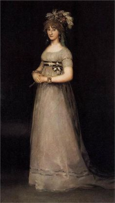 Potrait of the Countess of Chincon by Francisco Goya 1897-1800
