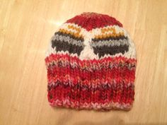 Unisex hand knit beanie hat with curling by FortWayneCurlingClub