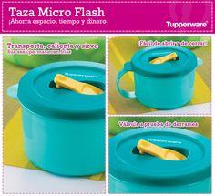 ¡Transporta, calienta y sirve con la Taza Micro Flash de Tupperware!