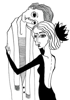 Ink couples on Behance
