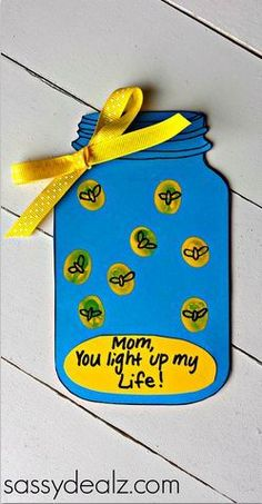 "Firefly ""you Light Up My Life"" Mother's Day Card (free Printable"