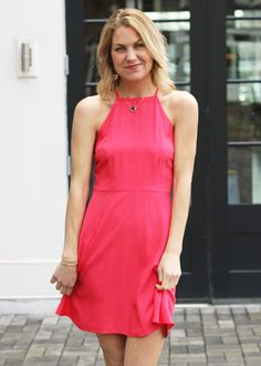 Greylin Amelie Keyhole Halter Dress - Beach dresses- Stripes and ...