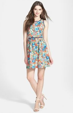 Soprano Piped Fit Flare Dress Juniors | Clothing