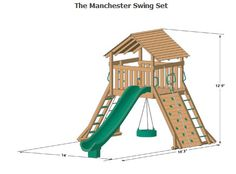 wooden playset plans - Google Search