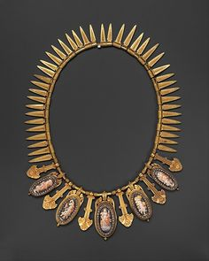 Eugêne Fontenay (French, 1823–1887). Necklace, ca. 1870. Gold, enamel and…