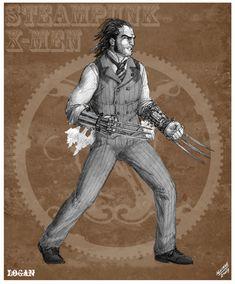 Wolverine Steampunk Redesign by *sketcheronline on deviantART