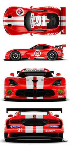 srt racing viper red and white - Google Search