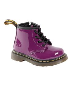 Look what I found on #zulily! Purple Brooklee B Patent Leather Boot - Girls by Dr. Martens #zulilyfinds