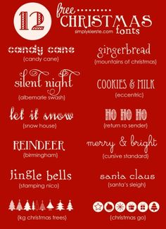 Favorite Free Christmas Fonts | simplykierste.com