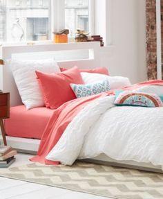 Bar III Box Pleat White Bedding Collection | macys.com