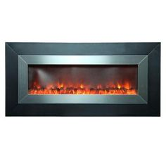 Yosemite Home Decor, Aries 53 in. Wall-Mount Electric Fireplace in Stainless Steel, DF-EFP1336-SS at The Home Depot - Tablet