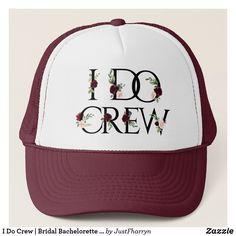 I Do Crew Bridal Bachelorette Party Boho Chic Trucker Hat , Bachelorette Party Themes, Bachelorette Weekend, Gifts For Bachelorette, Bachlorette Cakes, Fruit Displays, Boho Chic, Bohemian, Rustic Chic, Rustic Gifts