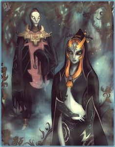 The Legend of Zelda: Twilight Princess, Midna and Zant / Midna and Zant by StellaB on deviantART