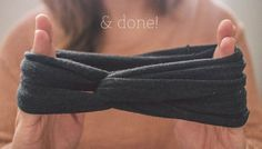 DIY: turban headband, no sew, beautifulness!I just did this and it turned out perfectly!