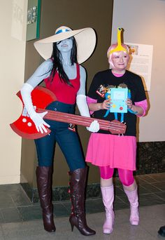"""Adventure Time"" cosplay with Marceline and Princess Bubblegum - by Fearless Zombie, via Flickr"