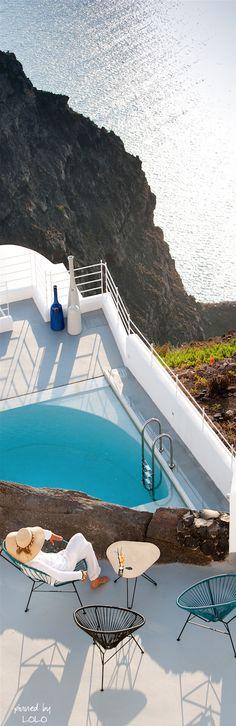 Santorini Grace Hotel. Let Uniglobe Travel Designers help plan your next adventure! www.uniglobetraveldesigners.com