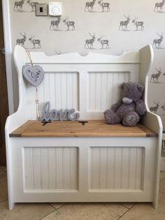 Church pew, Monks bench Seat Blanket box Pine Shabby Chic Storage box Wedding in Home, Furniture & DIY, Furniture, Benches | eBay!